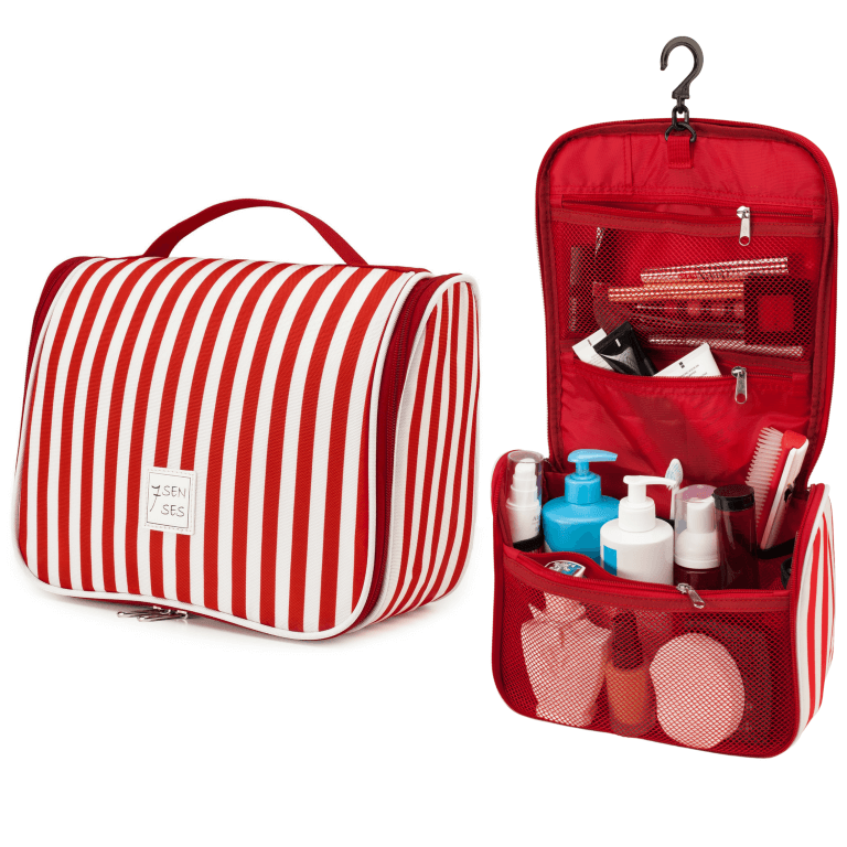 Hanging Toiletry Bag - Red
